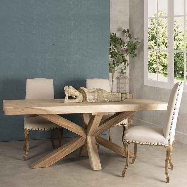 Mesa rustica grande madera roble haix blog de artesania - Artesania y decoracion ...
