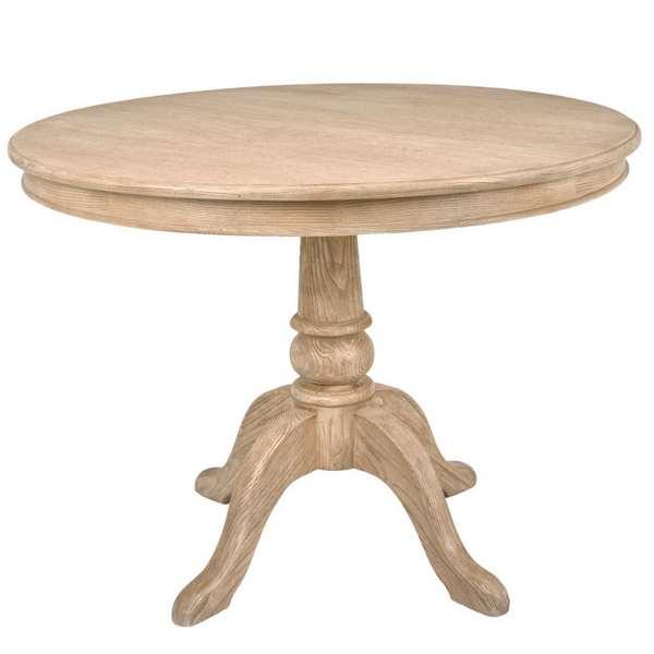 Mesa salon redonda roble haix blog de artesania y decoracion - Mesa salon redonda ...