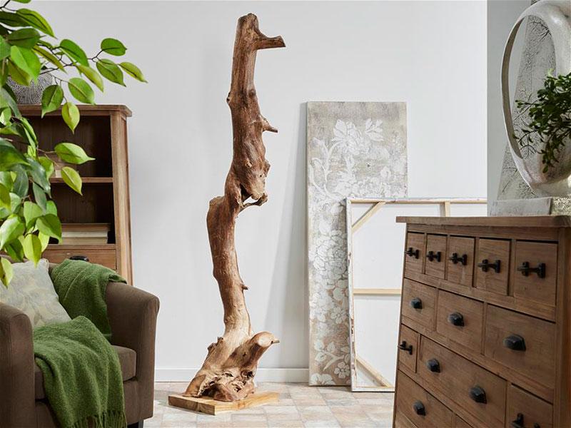 Tronco peana madera teca natural blog de artesania y - Artesania y decoracion ...