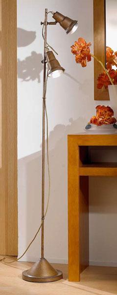 Lampara de pie con 2 focos estilo moderno colonial blog de artesania y decoracion - Lamparas estilo colonial ...