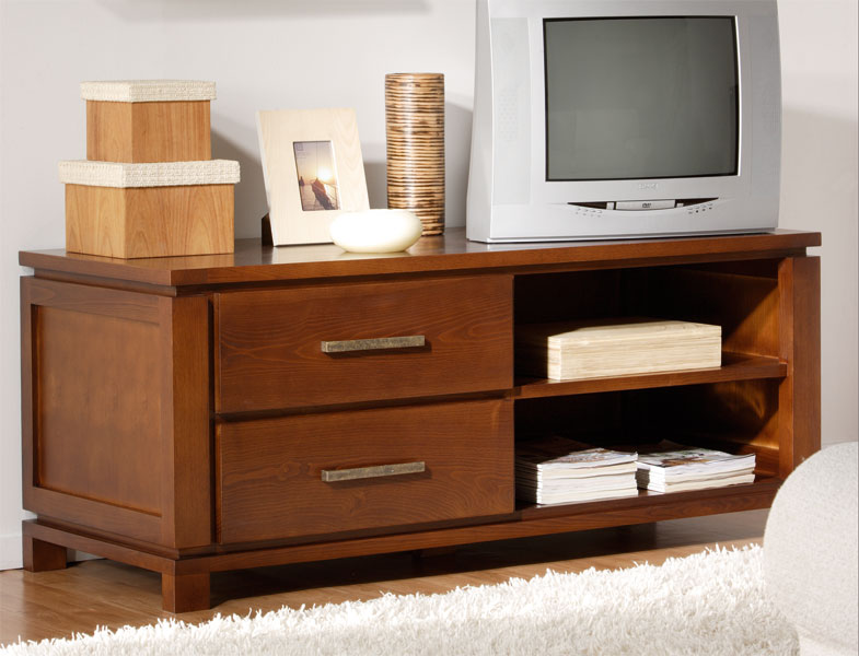 Mueble tv colonial 2 cajones bajo blog de artesania y decoracion - Mueble tv colonial ...