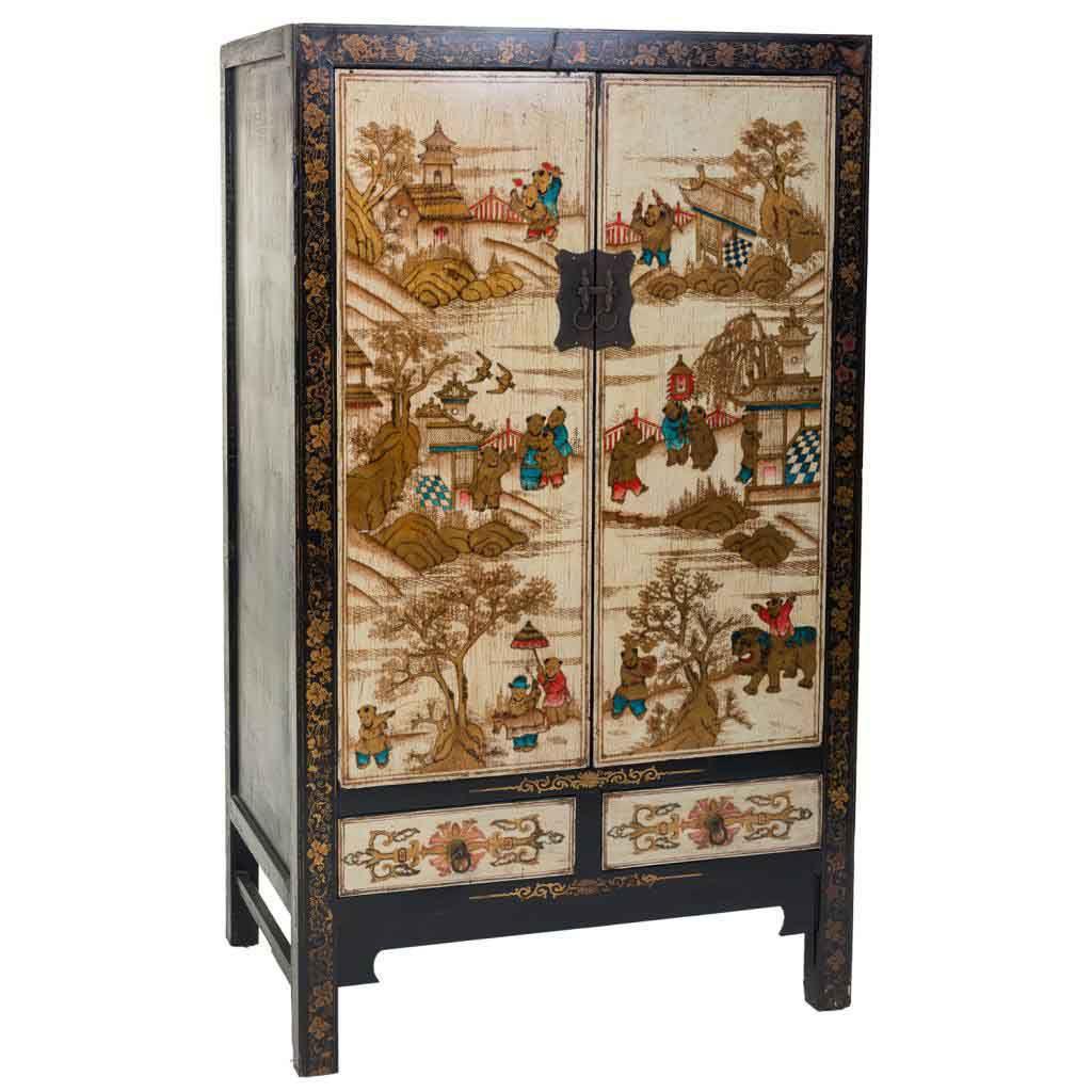 Armario 2 puertas chino decorado blog de artesania y decoracion - Armario de boda chino ...