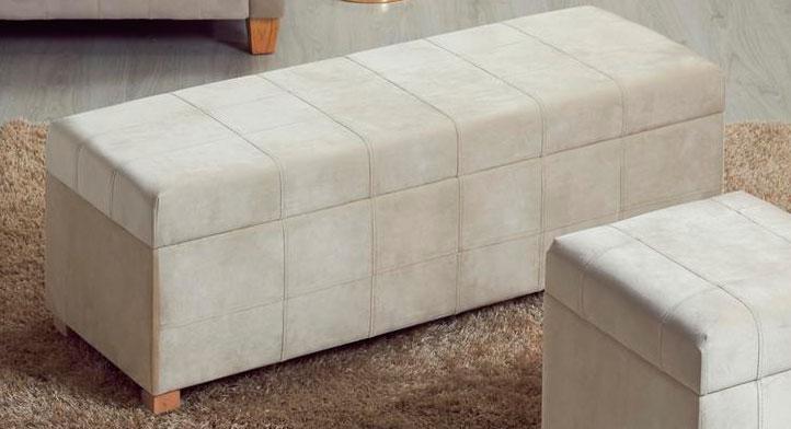 Descazadora baul dormitorio tapizado crema blog de artesania y decoracion - Baules tapizados dormitorio ...