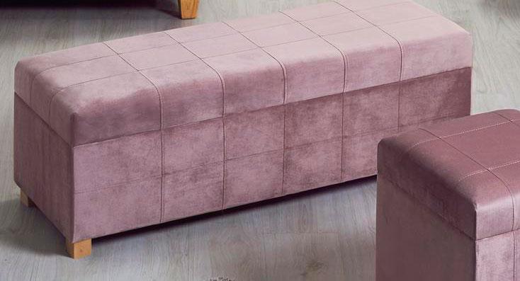 Descazadora baul dormitorio tapizado rosa blog de artesania y decoracion - Baules tapizados dormitorio ...