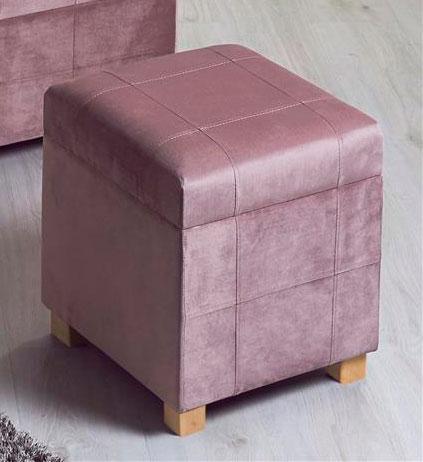 Taburete baul peque o tapizado rosa palido blog de artesania y decoracion - Baules tapizados dormitorio ...