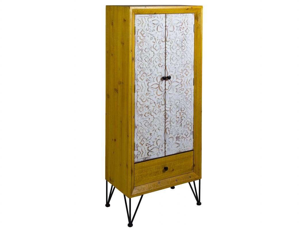Armario 2 puertas tallado estilo rustico actual