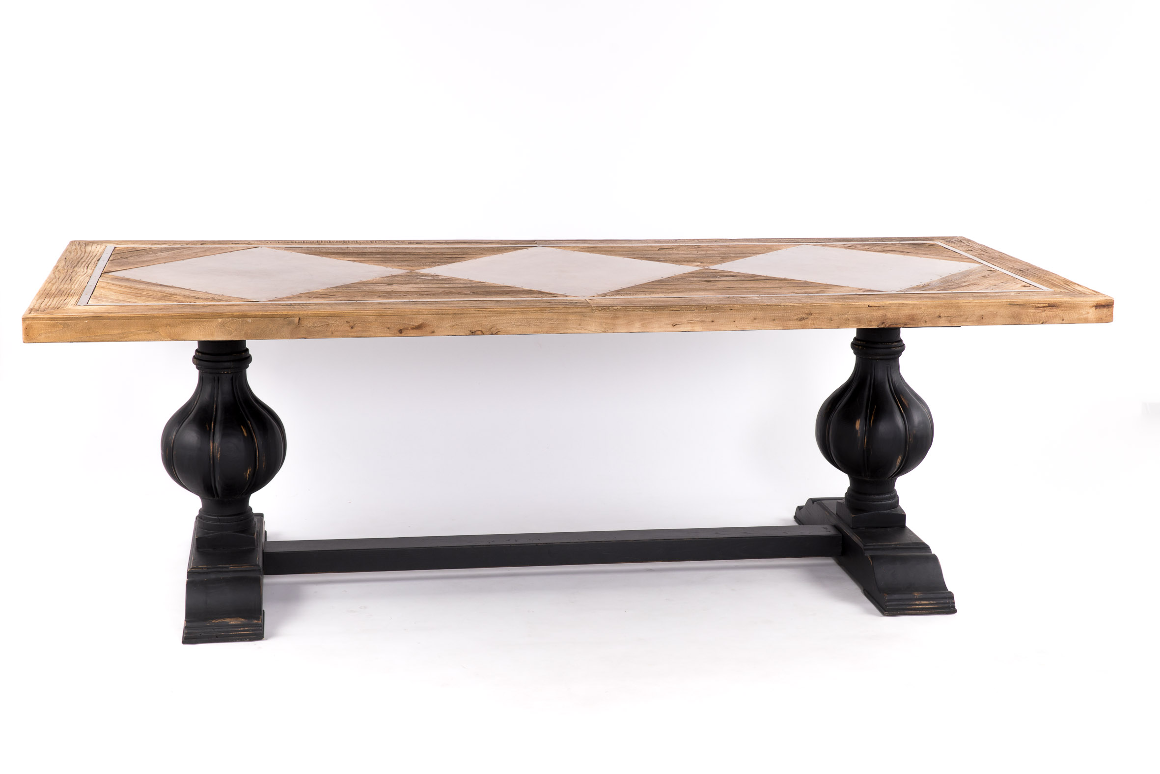 Mesa comedor retro vintage madera metal