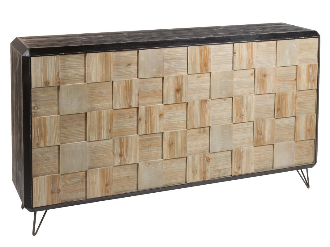 Aparador madera 4 puertas industrial