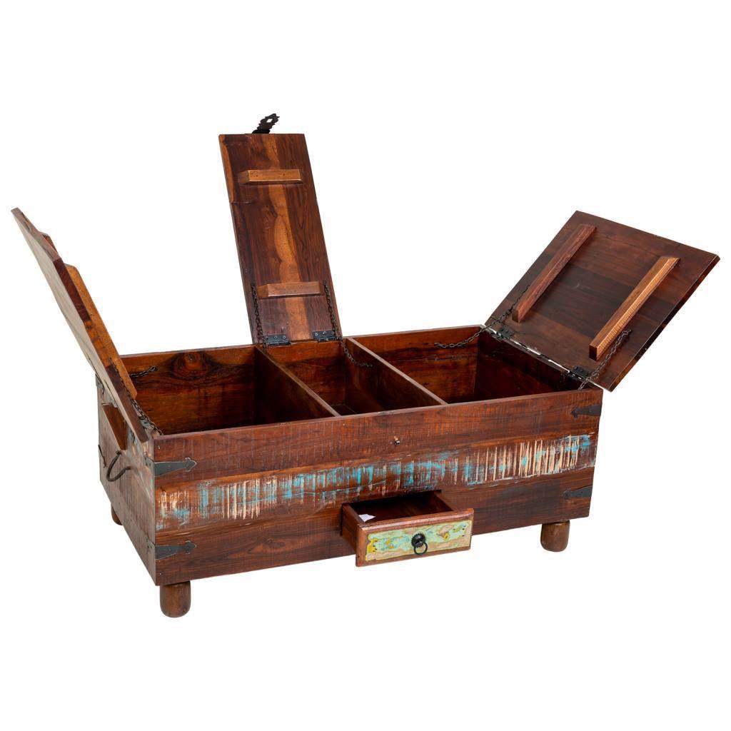 Baul mesa centro rustica colores decapados