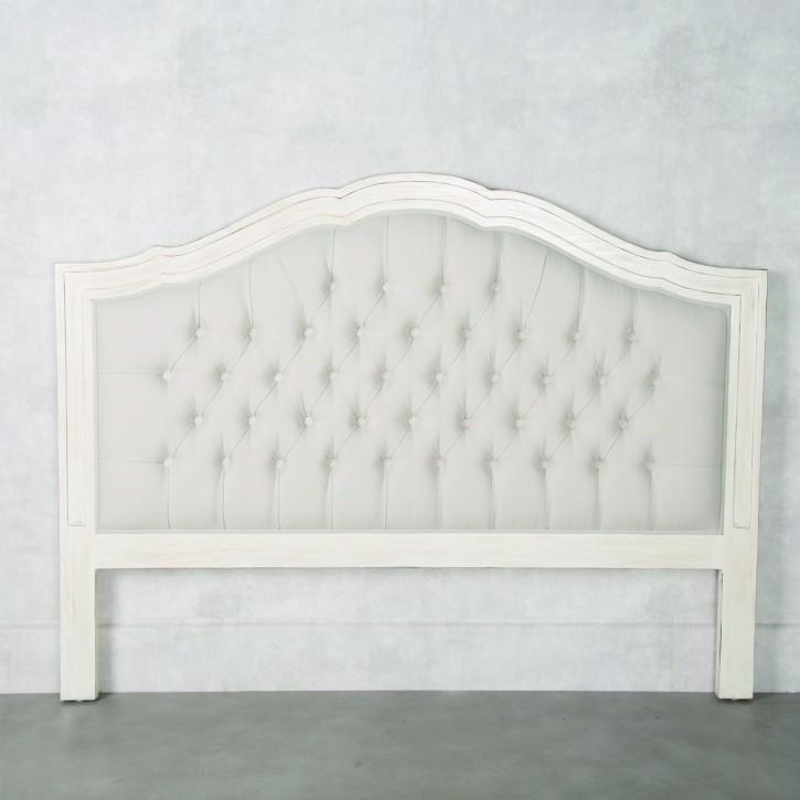 Cabecero tapizado roble blanco clasico