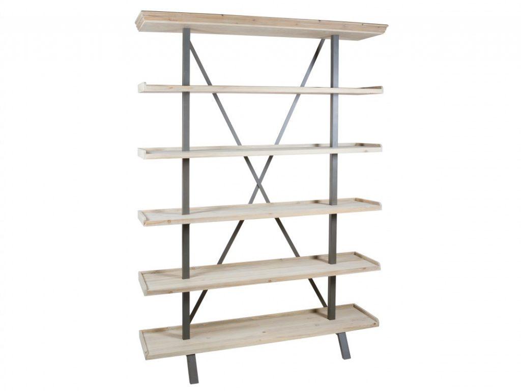 Estanteria madera y acero industrial