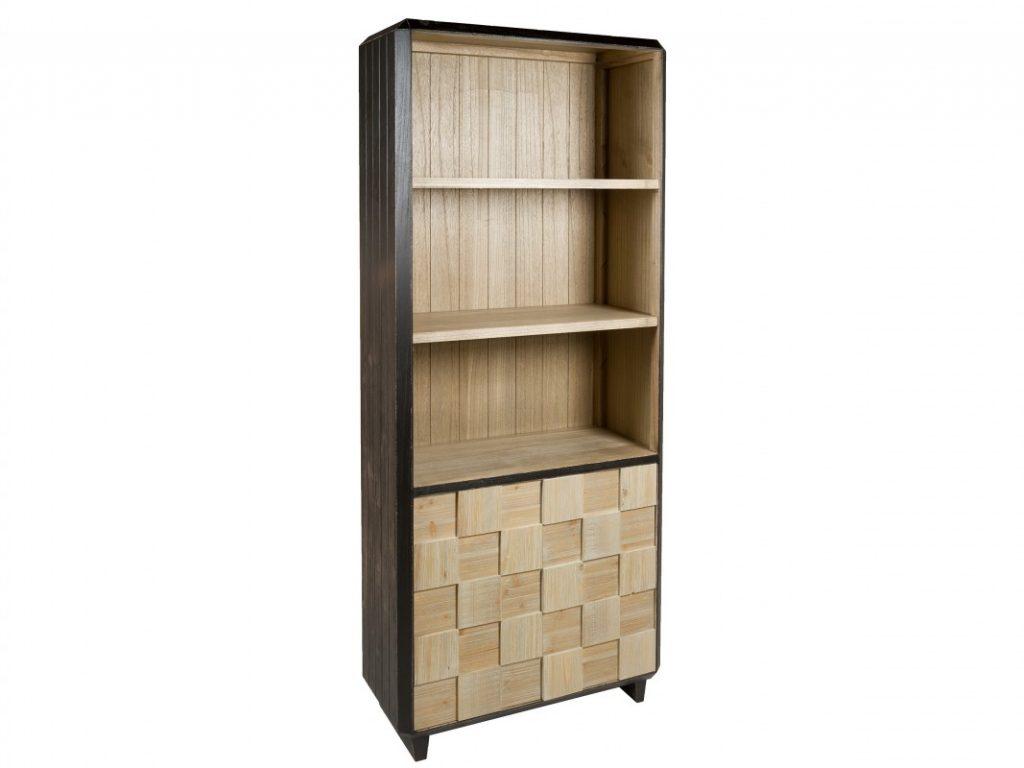 Librero industrial madera tallada