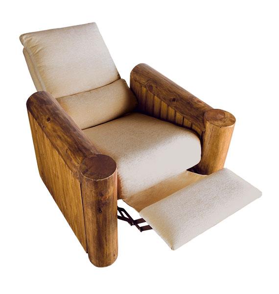 sillon relax rustico tapizado
