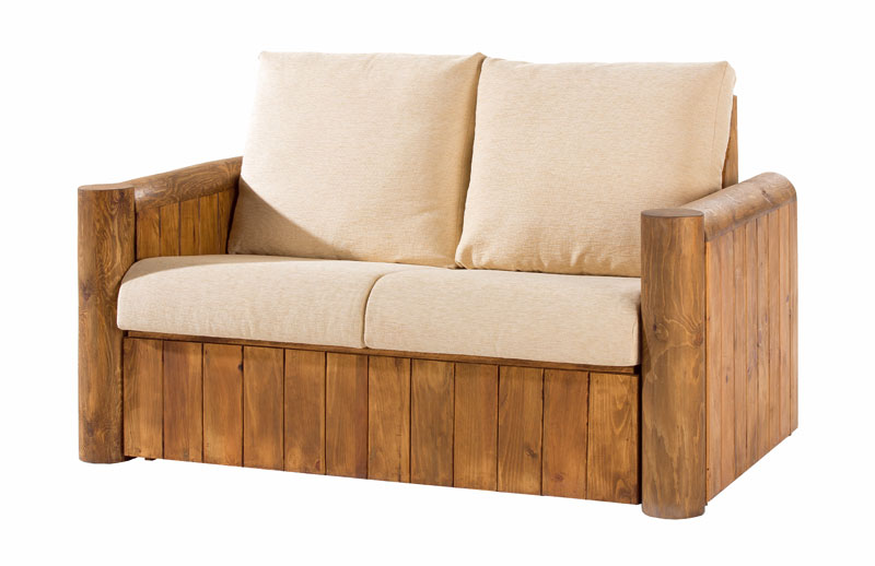 sofa 2 plazas rustico tapizado