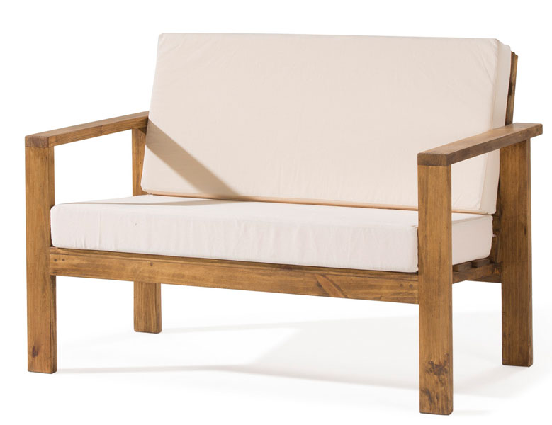 sofa basico rustico tapizado