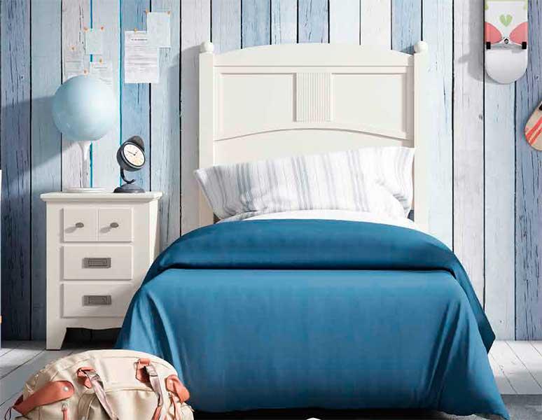 Cabecero para cama blanco juvenil