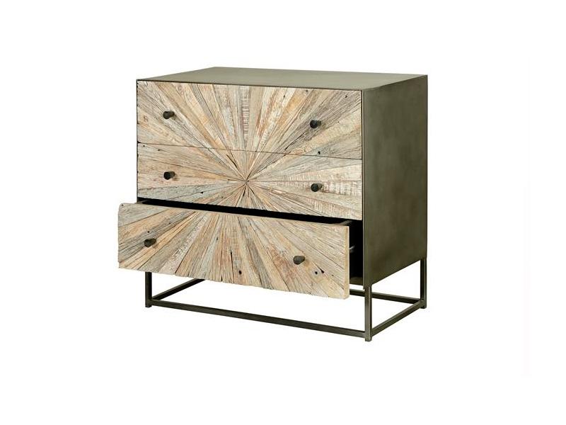 Comoda 3 cajones estilo industrial madera reciclada