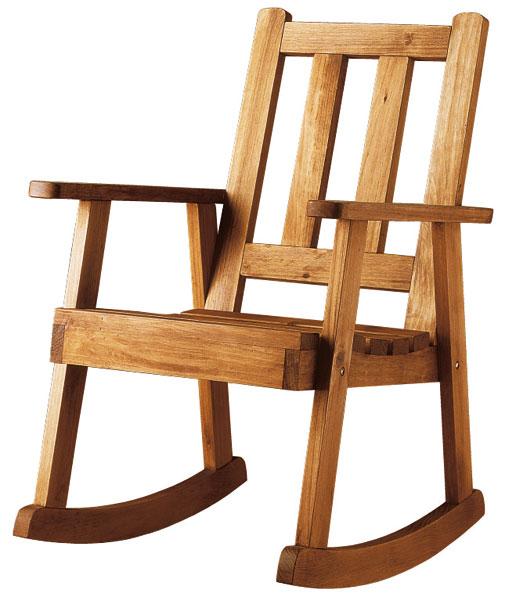 Mecedora rustica madera maciza