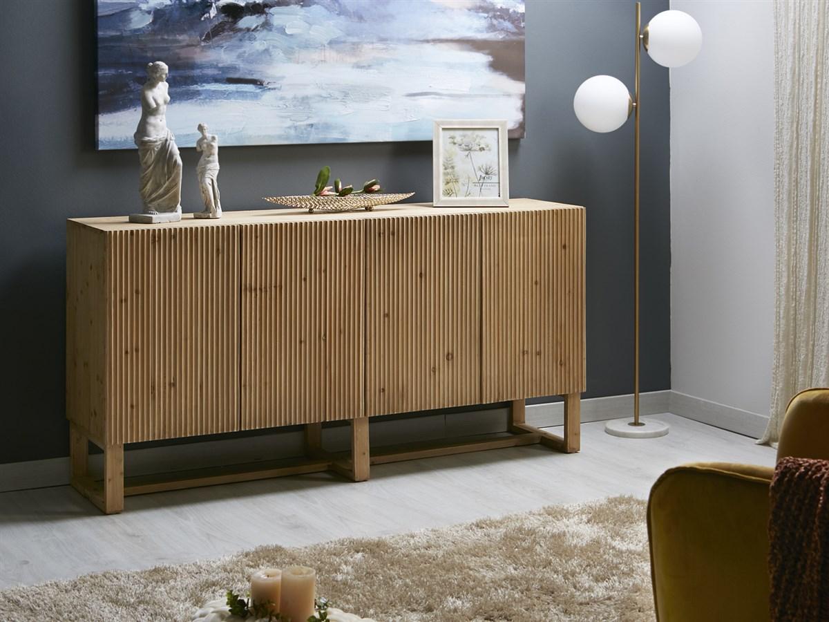 Aparador salon estilo actual madera 4 puertas