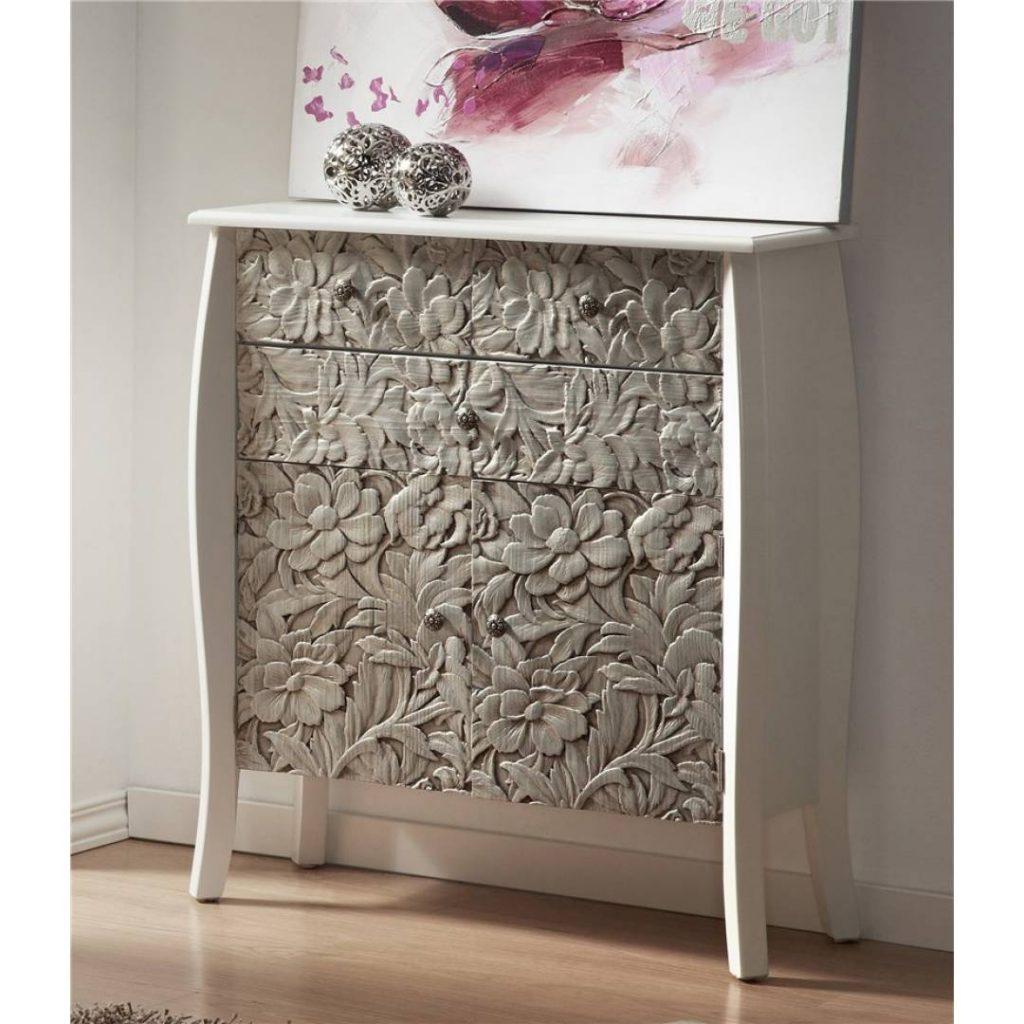 Comoda estilo moderna tallada en plata