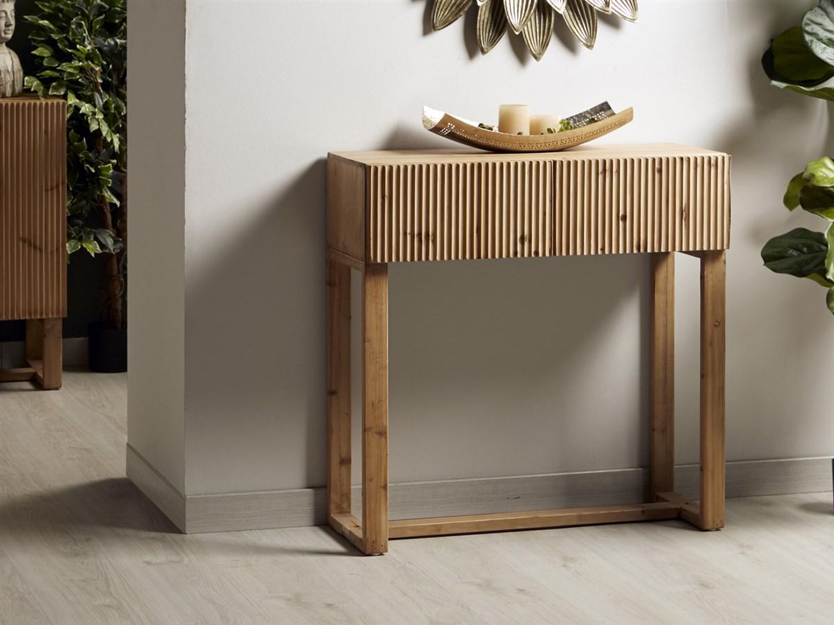 Mueble recibidor 2 cajones estilo contemporaneo