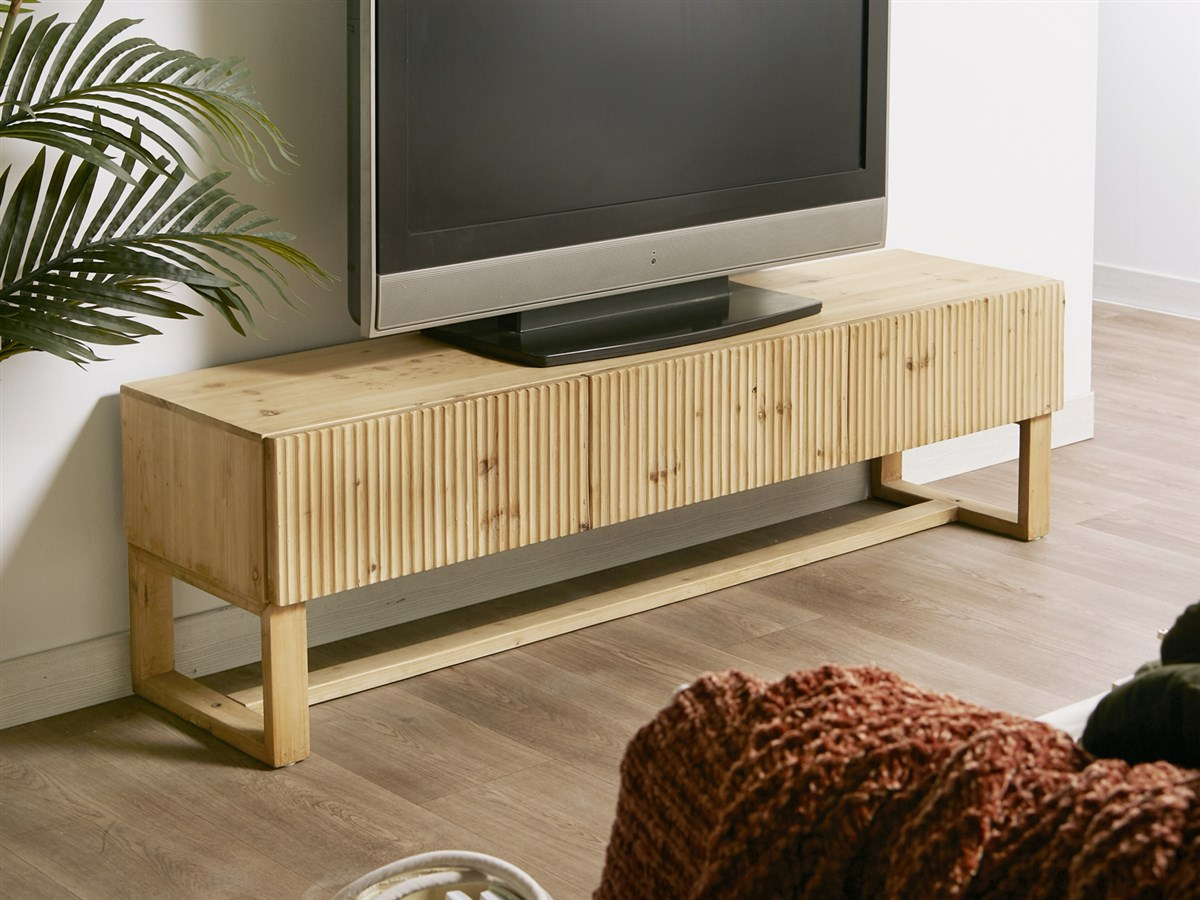 Mueble television moderno 2 cajones