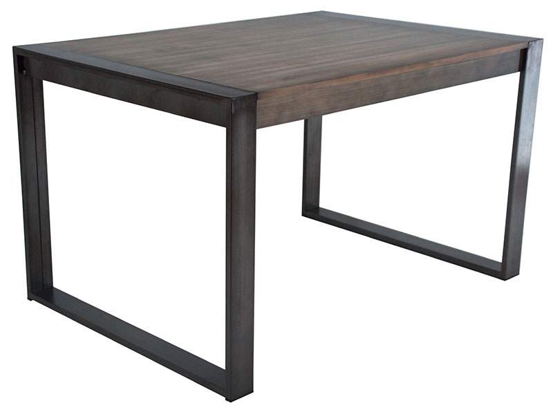Mesa comerdor extensible forja madera