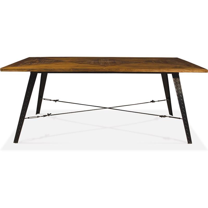 Mesa estilo industrial para salon