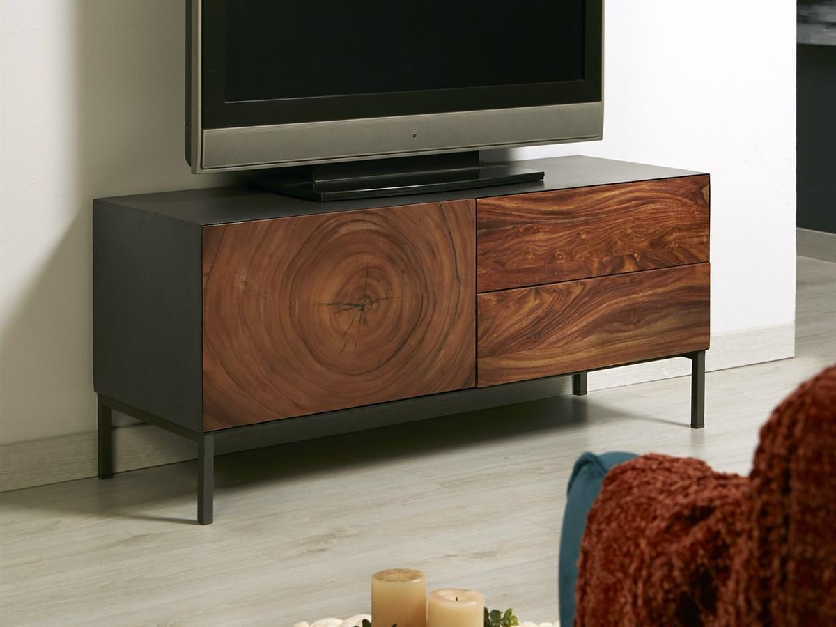 Mueble TV 2 cajones puerta industrial