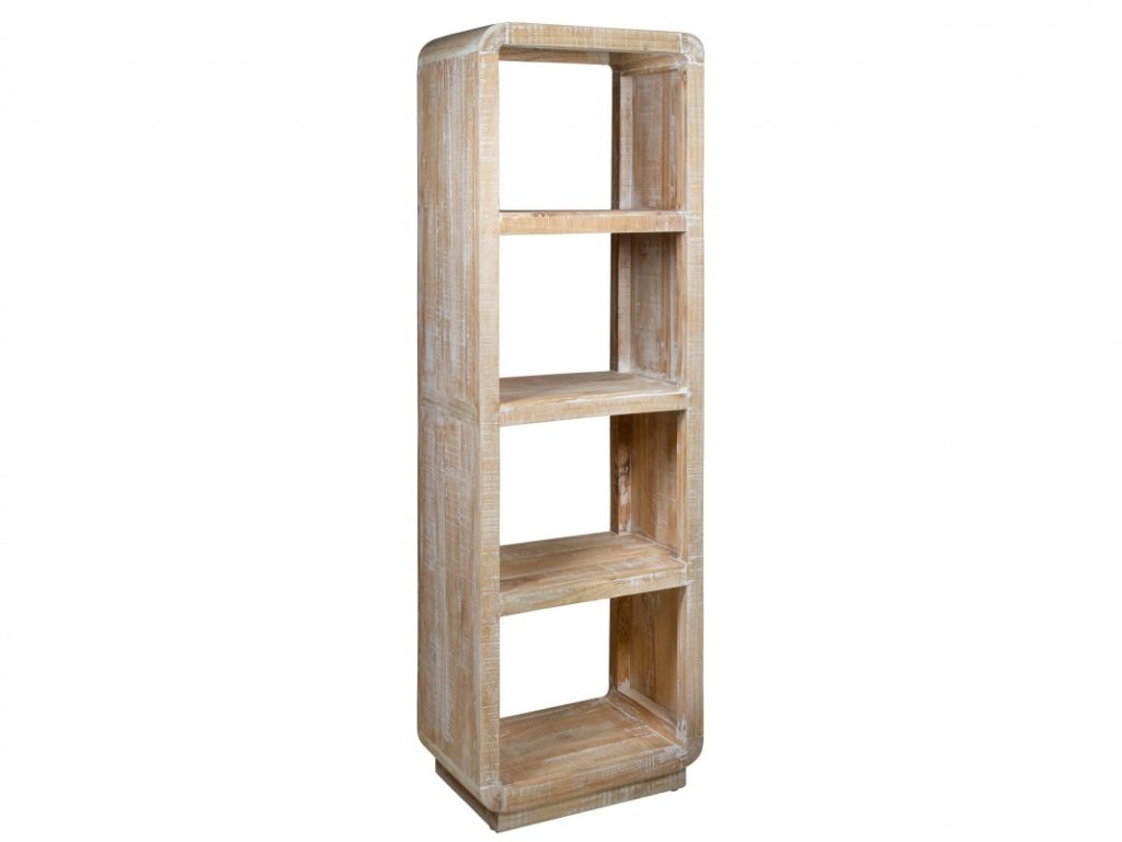 Estanteria libreria rustica blanca decape