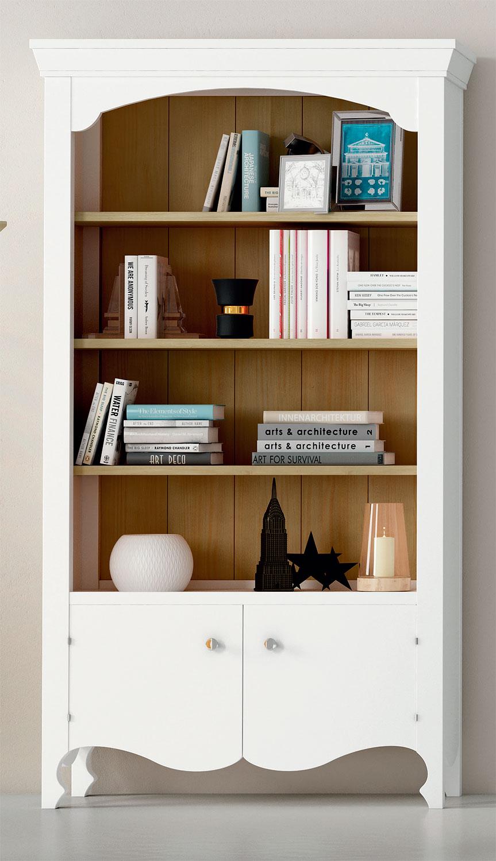 Libreria estanteria provenzal en blanco