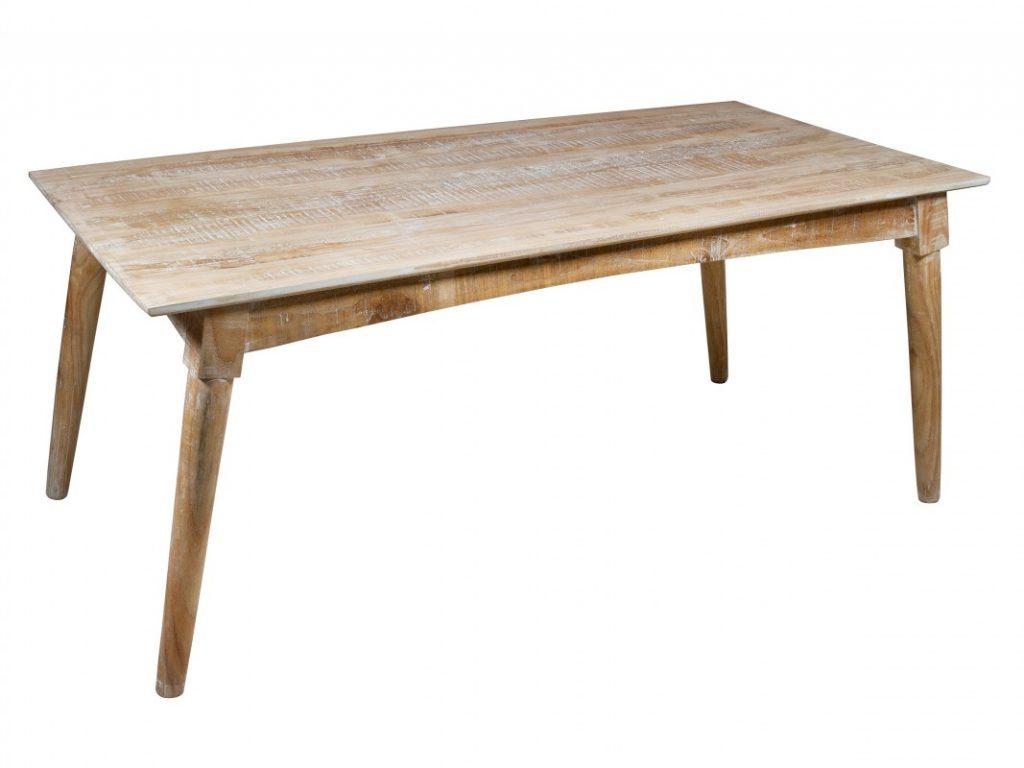 Mesa comedor rustica decape blanca