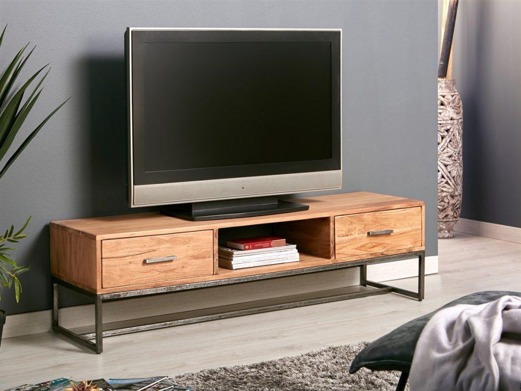 Mueble television 2 cajones bajo rustico industrial