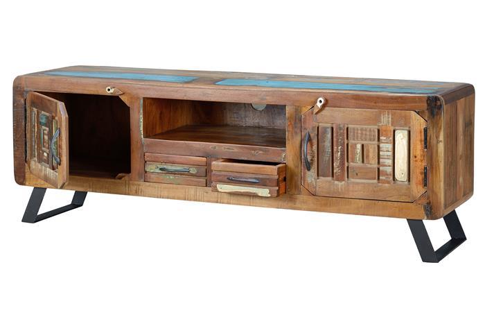 Mueble television rustico colores decapados