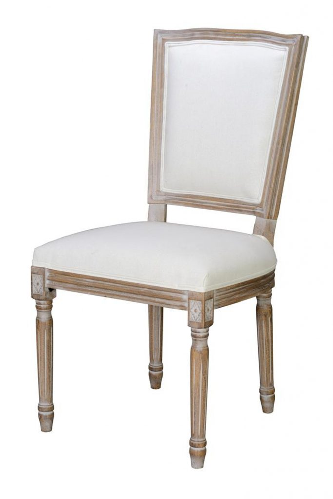 Silla tapizada blanco decape clasica