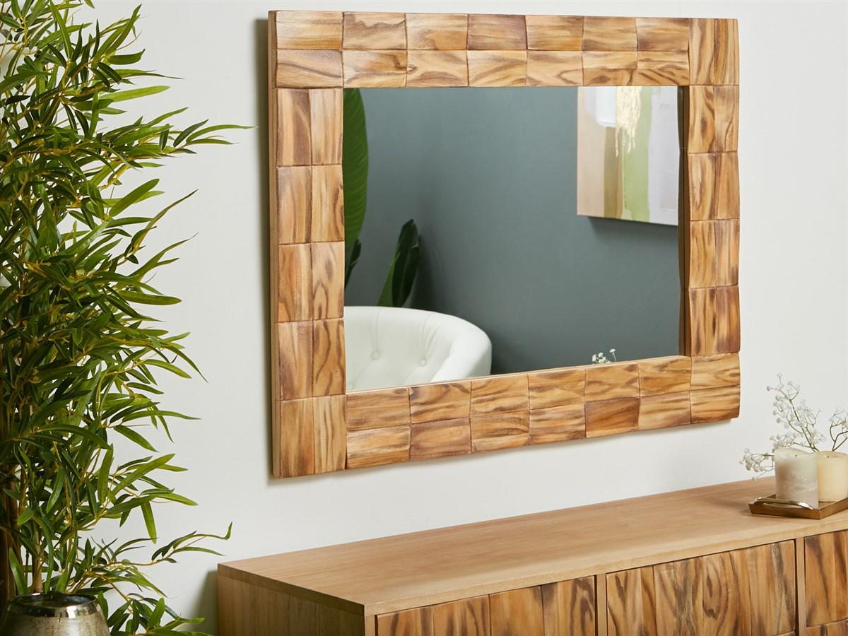 Espejo decoracion madera labrada actual