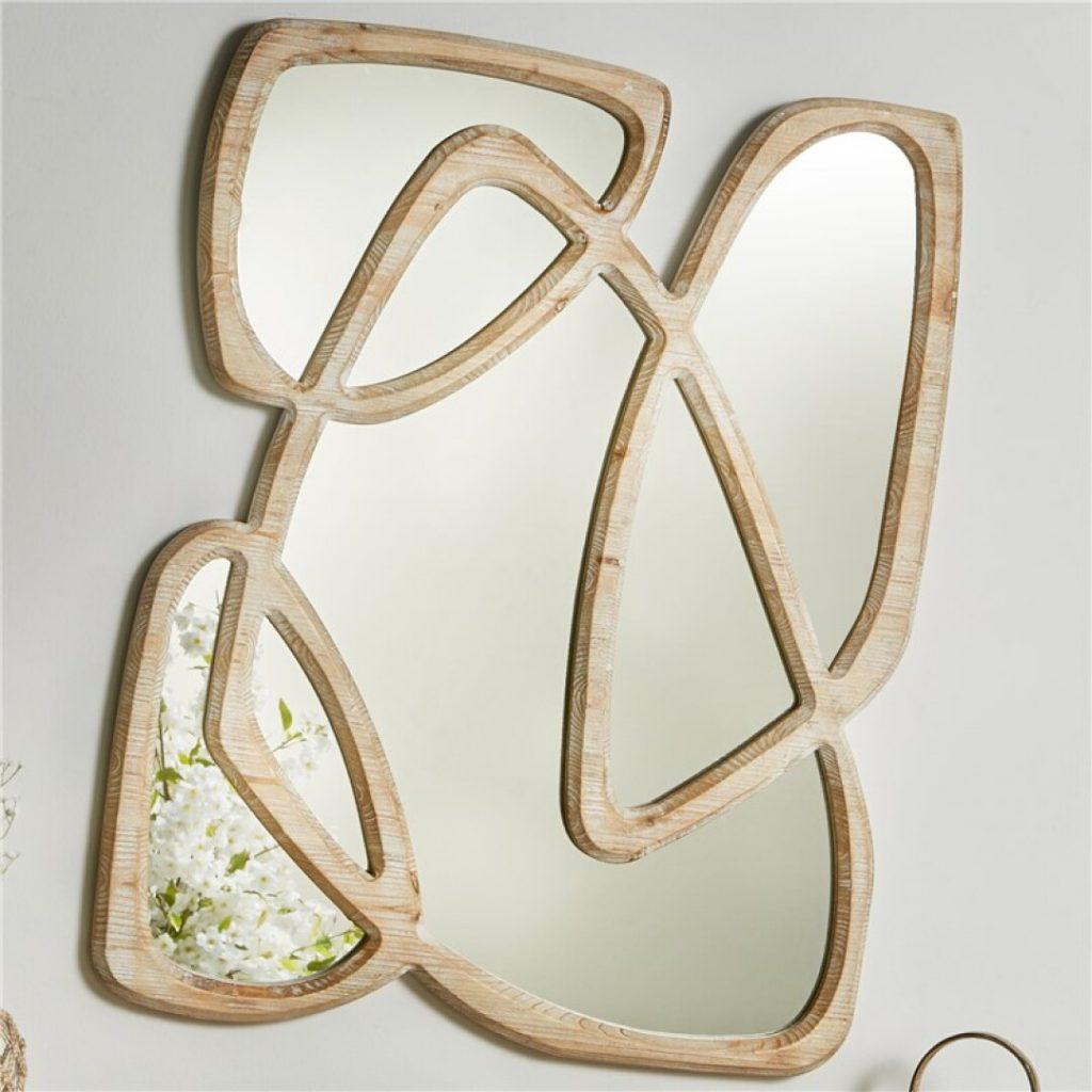 Espejo diseño actual madera natural