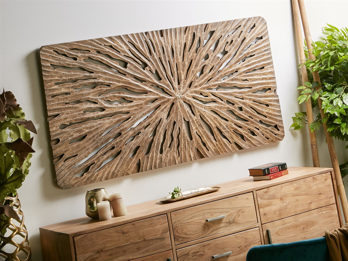 Panel tallado decoracion pared