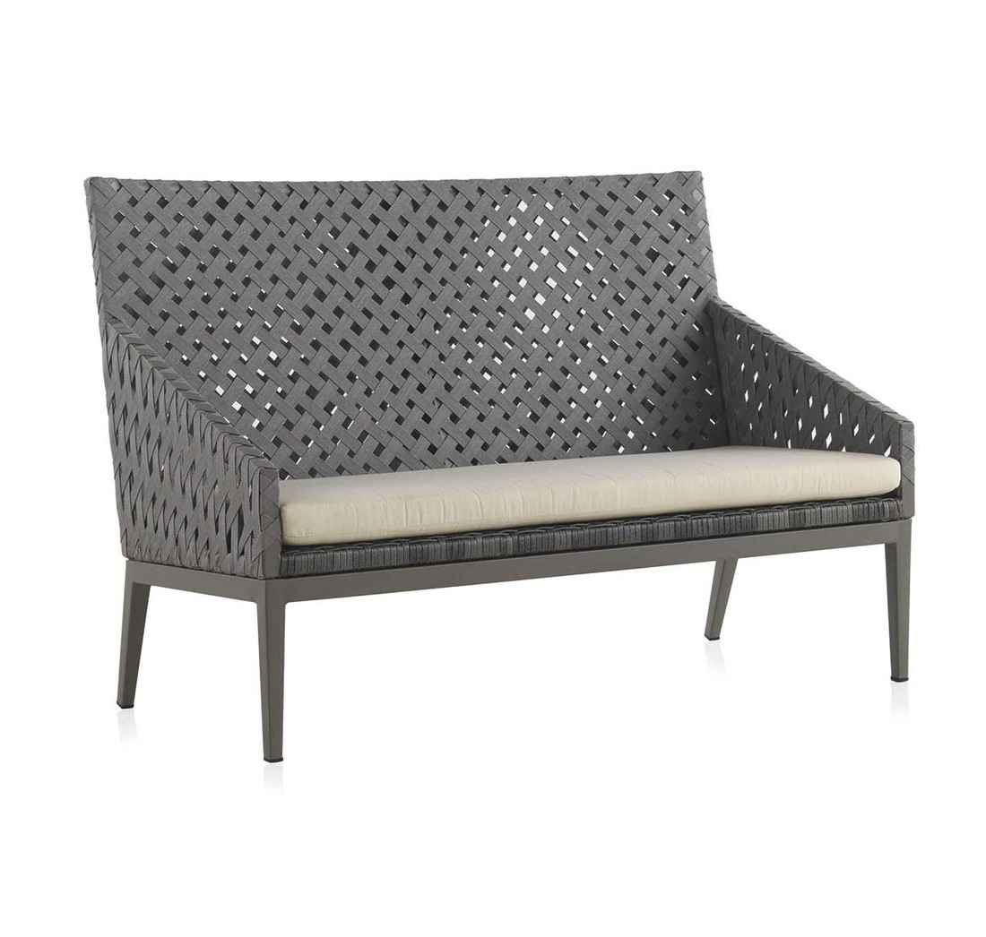 Sofa 2 plazas terraza aluminio