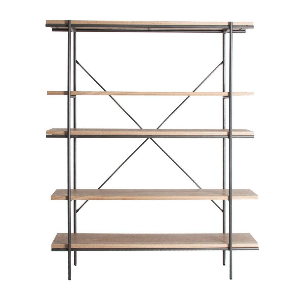 Estanteria diseño industrial acero madera