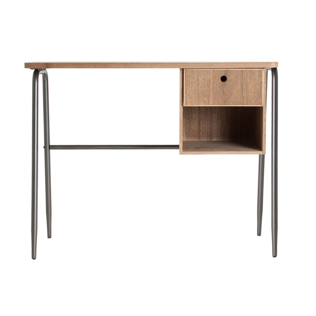 Mesa pupitre moderna acero madera