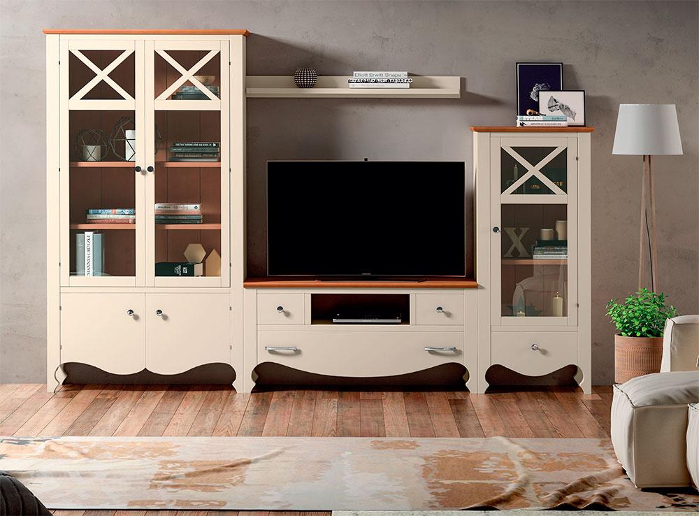 Modular salon provenzal blanco