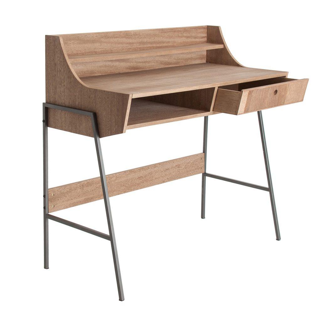 Mueble escritorio diseño moderno acero forja