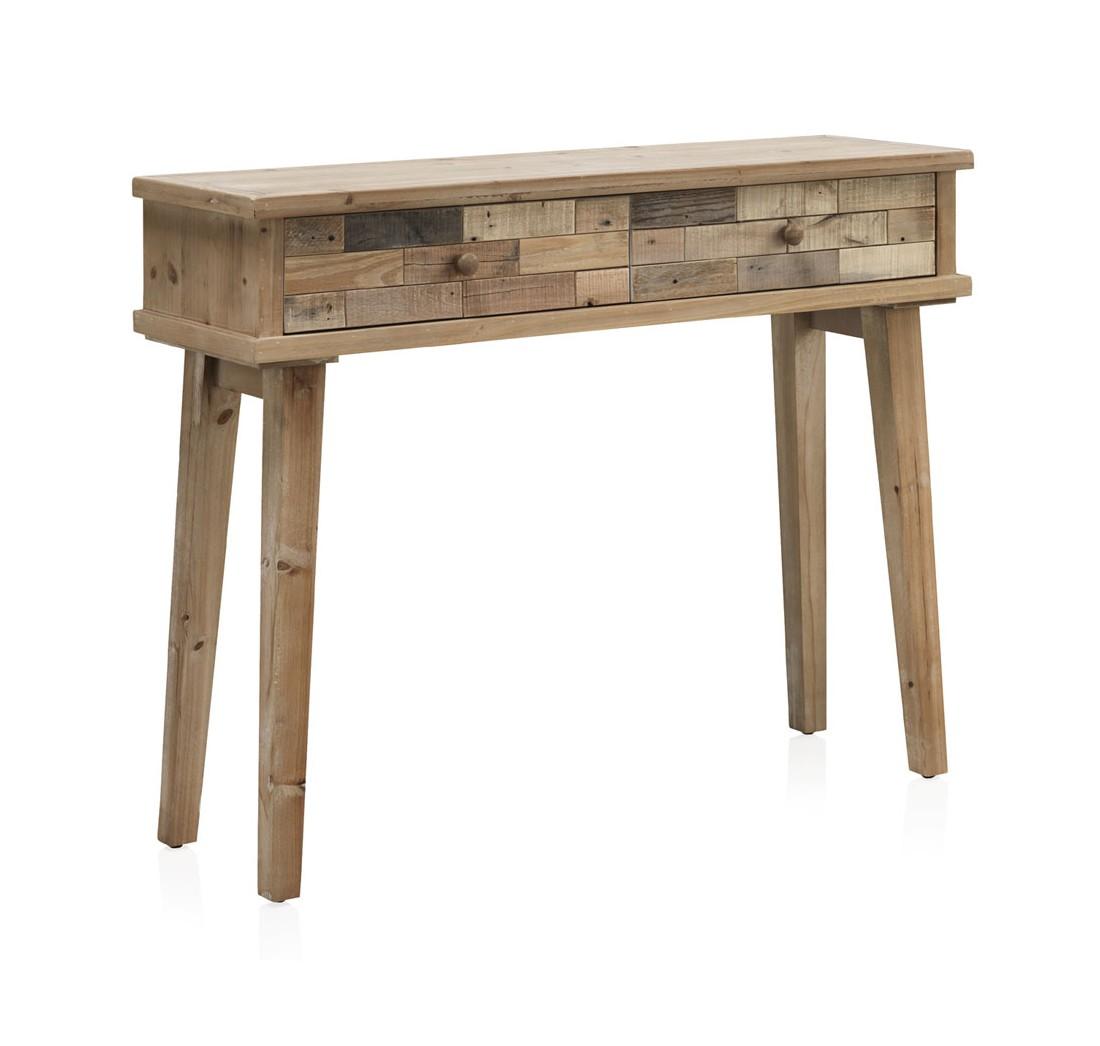 Mueble recibidor 2 cajones rustico reciclado