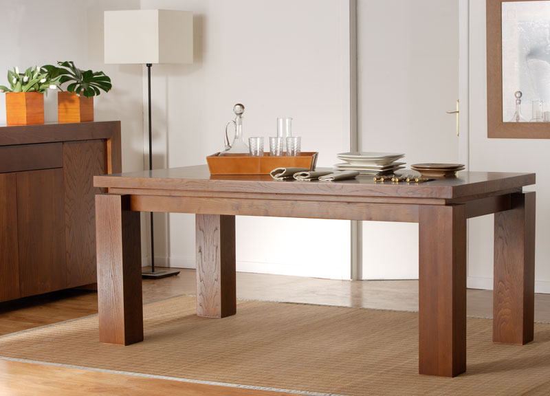 Mesa actual madera maciza