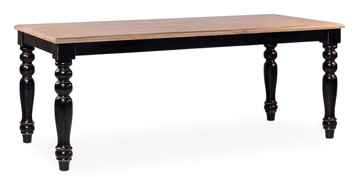 Mesa comedor negra madera clasica