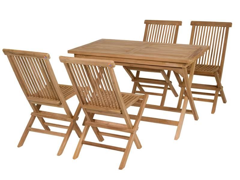 Mesa teca y silla jardin