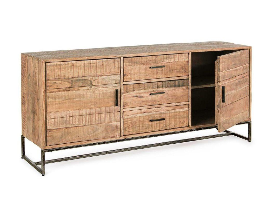 Aparador estilo industrial madera maciza