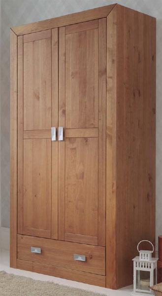 Armario juvenil 2 puertas rustico