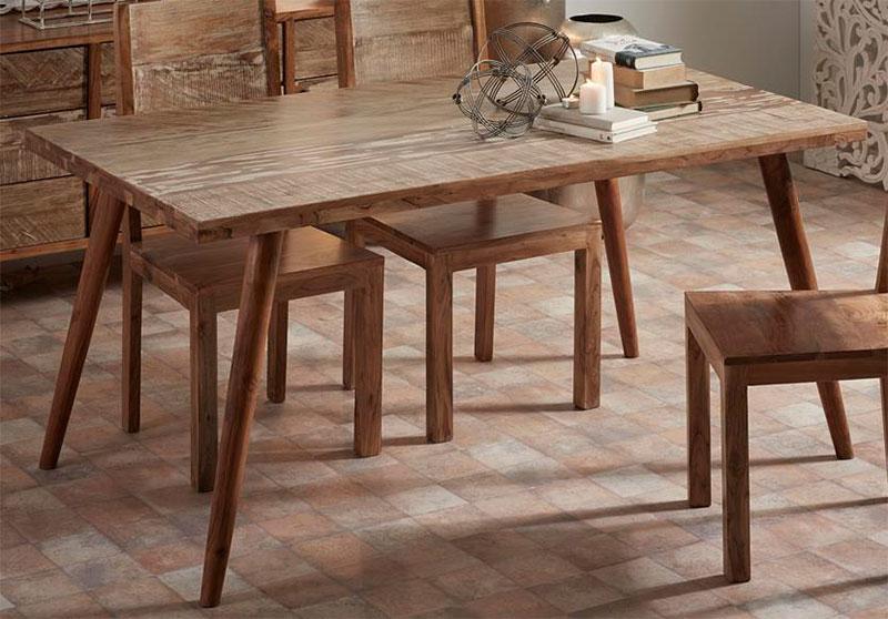 Mesa comedor madera decape vintage